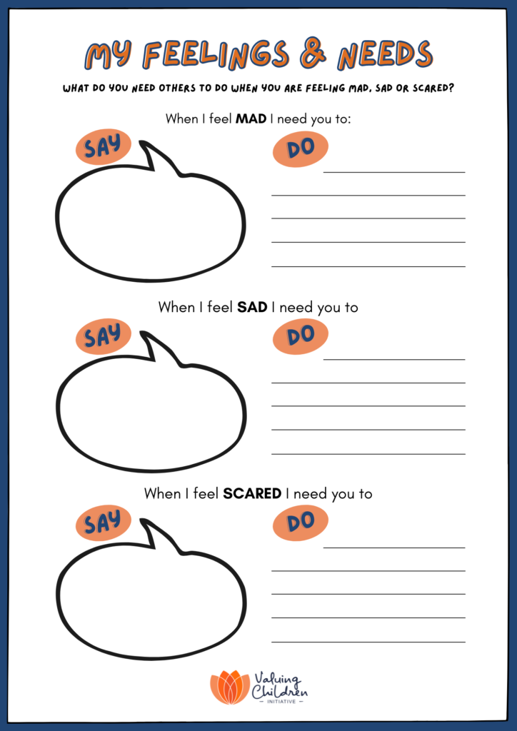 My Feelings & Needs worksheet
