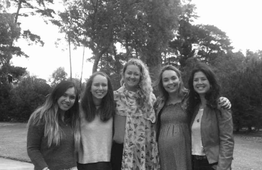 Black and white photo of the Valuing Childrens Initiative team